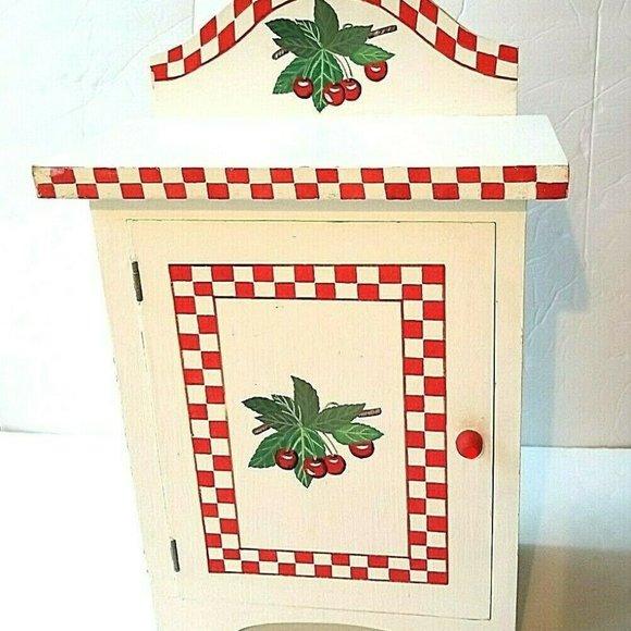 Vintage White Wood Kitchen Cabinet Retro